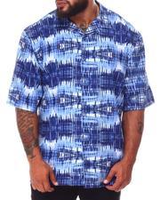 Button-downs - Abstract Woven Short Sleeve Shirt (B&T)-2660336