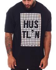 Buyers Picks - Hustle Rubber Print Crew Neck T-Shirt (B&T)-2661607