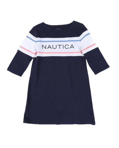 Nautica - Logo T-Shirt Dress (4-6X)