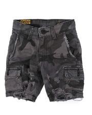 Jordan Craig - Raw Edge Distressed Camo Shorts (2-7)-2662358