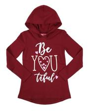 La Galleria - Be You Graphic Hooded Tee (7-16)-2662391