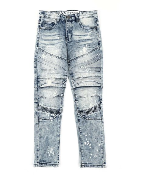 RGSTR - Embossed Washed Moto Jeans (8-18)