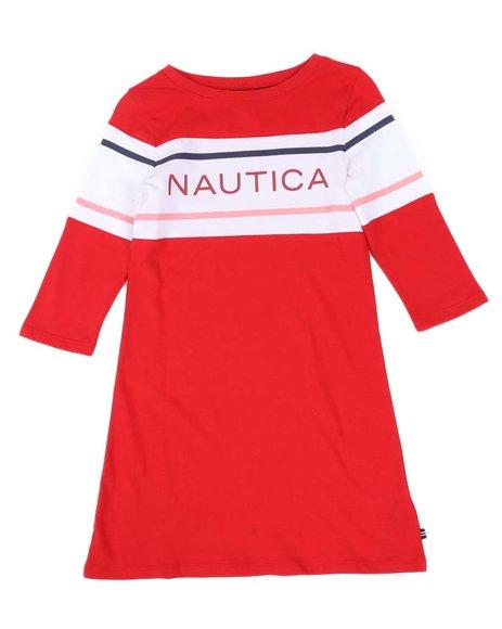Nautica - Logo T-Shirt Dress (7-16)