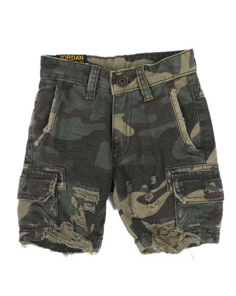 Jordan Craig - Raw Edge Distressed Camo Shorts (2-7)