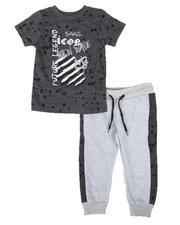 Arcade Styles - 2 Pc Future Legend Tee & Two Tone Jogger Pants Set (2T-4T)-2662712