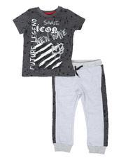 Boys - 2 Pc Future Legend Tee & Two Tone Jogger Pants Set (4-7)-2662741