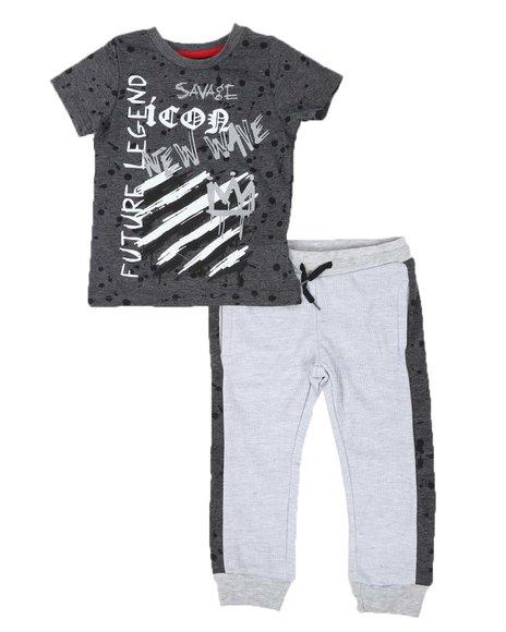 Arcade Styles - 2 Pc Future Legend Tee & Two Tone Jogger Pants Set (4-7)