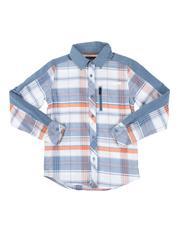 Button-downs - Plaid Long Sleeve Button Down Shirt (8-20)-2661510