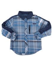 Arcade Styles - Plaid Long Sleeve Button Down Shirt (4-7)-2661540