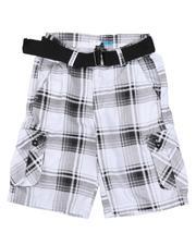 Shorts - Plaid Cargo Shorts (8-20)-2661547
