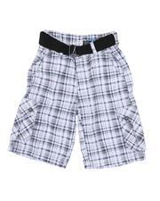 Shorts - Plaid Cargo Shorts (8-20)-2661555