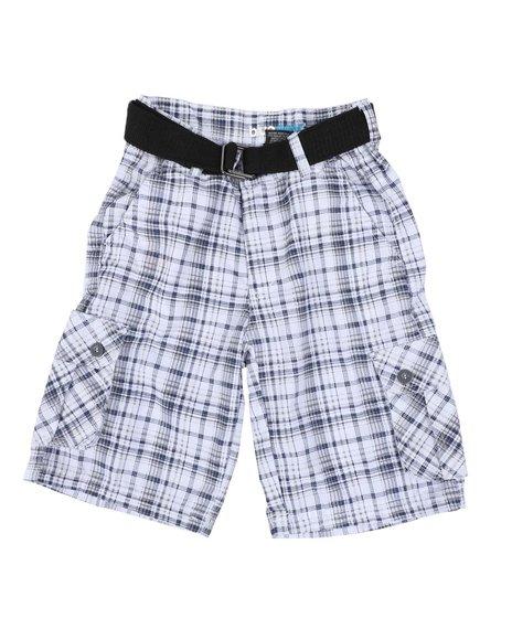 NOTHIN' BUT NET - Plaid Cargo Shorts (8-20)