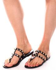 Fashion Lab - PAPAYA02L Studded Jelly Thong Sandals-2653543