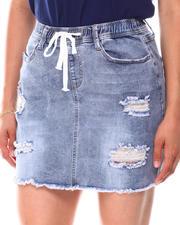 Fashion Lab - Distressed Denim Skirt-2660822