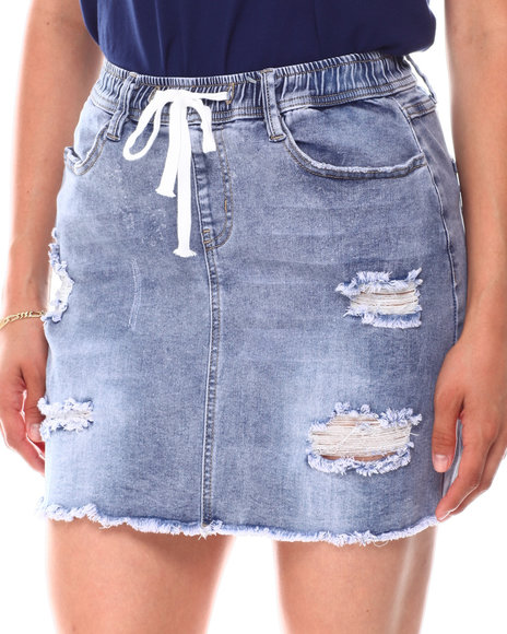 Fashion Lab - Distressed Denim Skirt