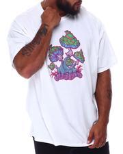 T-Shirts - Trippy Mushrooms T-Shirt (B&T)-2665334