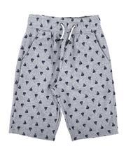 Shorts - Sail Boat Print Fleece Shorts (8-18)-2664305