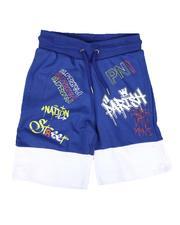 Shorts - Two Tone Print Knit Shorts (4-7)-2664526