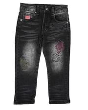 Born Fly - Distressed Color Stitch Jeans (4-7)-2664546