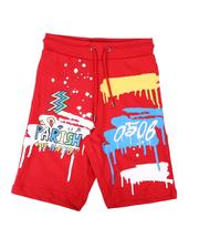 Shorts - Doodle Parish Print Shorts (8-20)-2664583