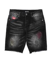 Born Fly - Distressed Color Stitch Denim Shorts (8-20)-2664588