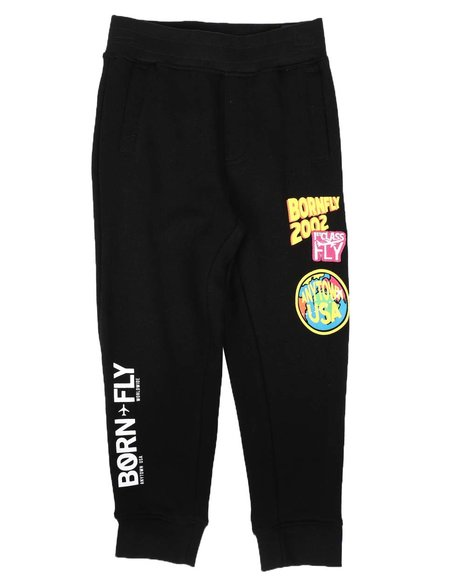 Born Fly - Taped Side Knit Jogger Pants (4-7)
