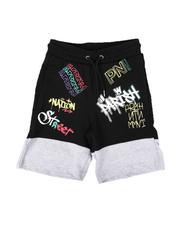Shorts - Two Tone Print Knit Shorts (4-7)-2664511