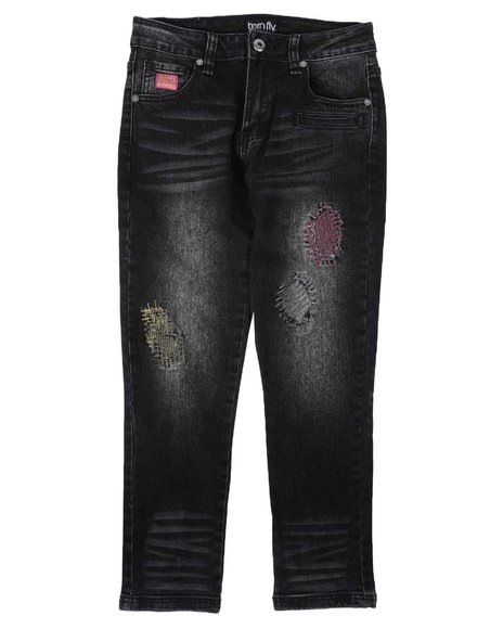 Born Fly - Distressed Color Stitch Jeans (8-20)