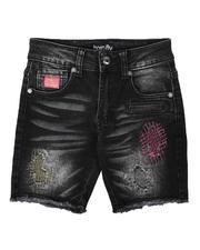 Born Fly - Distressed Color Stitch Denim Shorts (4-7)-2664601