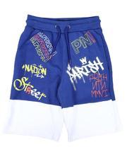 Shorts - Two Tone Print Knit Shorts (8-20)-2664551