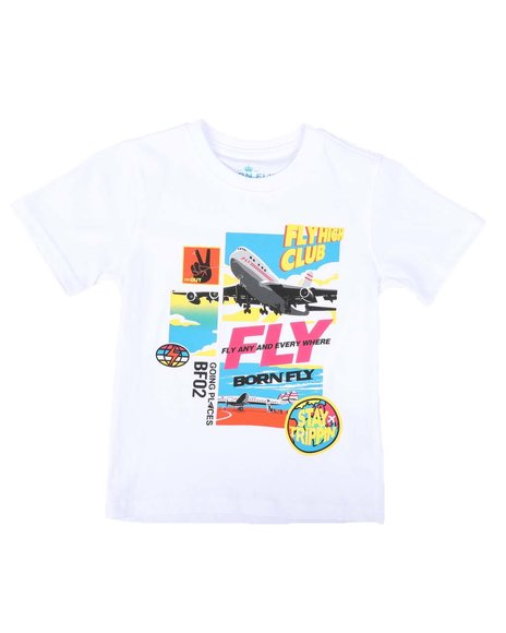 Born Fly - Fly Anywhere Graphic Tee (4-7)