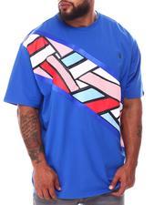 Makobi - Geometric Colorblock T-Shirt (B&T)-2667226