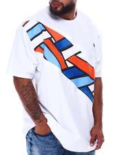 Makobi - Geometric Colorblock T-Shirt (B&T)-2667231