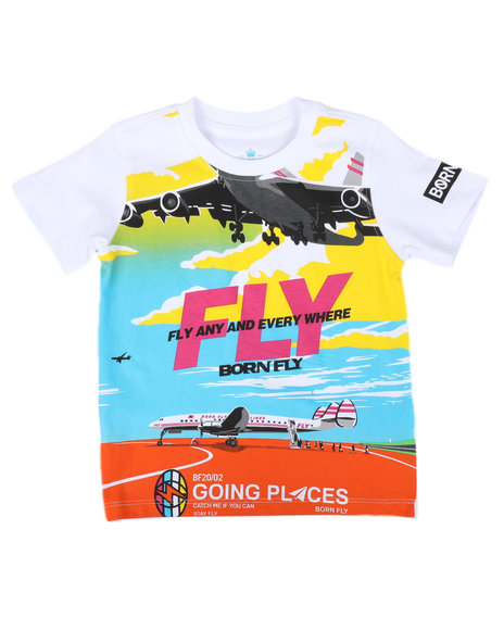 Born Fly - Fly Any & Every Where Graphic Tee (2T-4T)