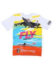 Born Fly - Fly Any & Every Where Graphic Tee (8-20)-2663388
