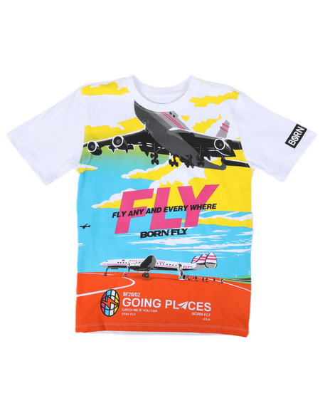Born Fly - Fly Any & Every Where Graphic Tee (8-20)