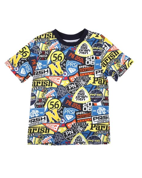 Parish - All Over Patch Print Tee (4-7)