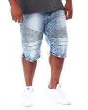 Buyers Picks - Moto Knee Rip & Tear Denim Shorts (B&T)-2667575