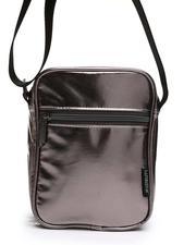 Crossbody - Metallic Gunmetal Sidekick Brick Crossbody Bag (Unisex)-2663305