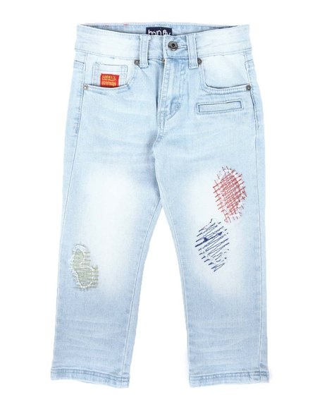 Arcade Styles - Distressed Color Stitch Jeans (4-7)