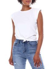 Fashion Lab - Shoulder Pad Flange Sleeve Tee-2668015
