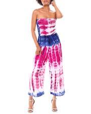 Fashion Lab - Smock Bodice Strapless Jumpsuit-2661617