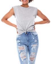 Fashion Lab - Shoulder Pad Flange Sleeve Tee-2668025