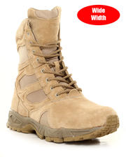 Rothco - Rothco Forced Entry Desert Tan 8 in Deployment Boots with Side Zipper (Wide)-1932184