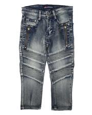 Phat Farm - Washed Stretch Moto Denim Jeans (4-7)-2666145