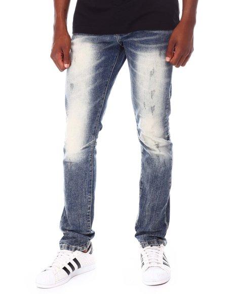 SMOKE RISE - Classic Skinny Blast Wash Jean