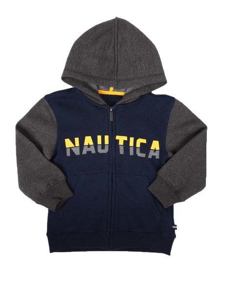 Nautica - Color Block Zip Up Hoodie (4-7)