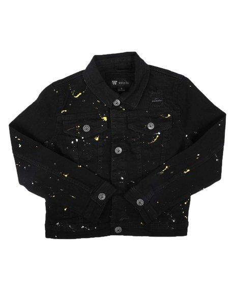 Arcade Styles - Paint Splatter Denim Jacket (8-20)