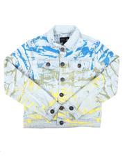 Arcade Styles - All Over Pattern Denim Jacket (8-20)-2668107