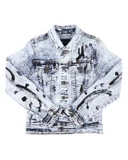 Outerwear - Paint Splatter Denim Jacket (8-20)-2668112